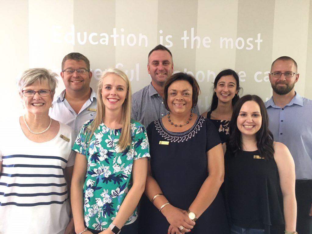 Left to right:  Sandra de Villiers, Carel Coetzee, Lucinda Burger Nico Aldrich, Claudell Müller, Cristina Correia, Megan Versfeld, Mason Apps